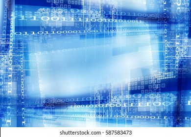 Computer network and data digital communication. Abstract science and technology concept background.
