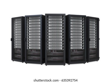 Computer Network Server Isolated. 3D rendering