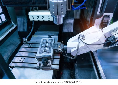 Computer Numerical Control (CNC) machine at industrial manufacture factory