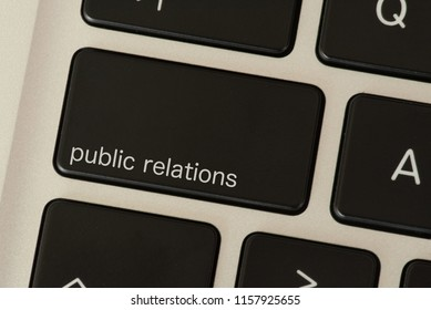 A computer and public relations