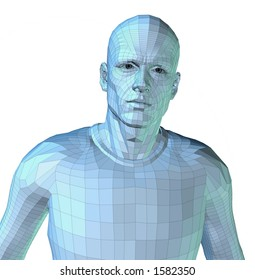 Computer Rendering of a man