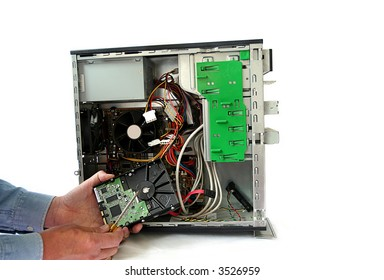Computer repair and hard drive replacement