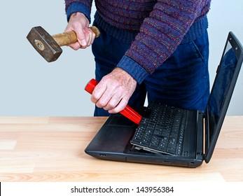 Computer repair man - office humor