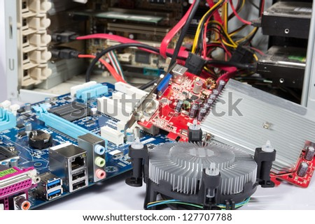 Computer Repair Upgrade Open Pc Parts Stock Photo (Edit Now