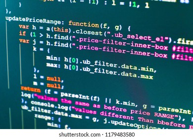 Computer science lesson. PHP data source file. CSS, JavaScript a
