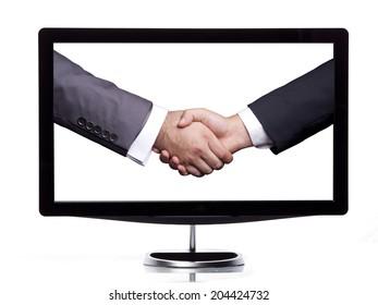 Computer screen handshaking