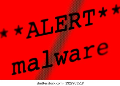 Computer screen with malware alert.