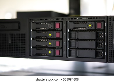 Computer server, Shallow depth of Field