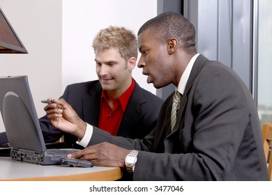 computer training session with coworkers
