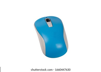 Computer wireless mouse isolated on a white background