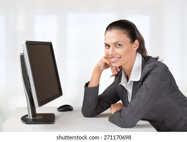 Computer, Women, Computer Monitor.