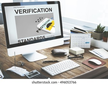 Computer Work place Verification Standards Graphics Concept
