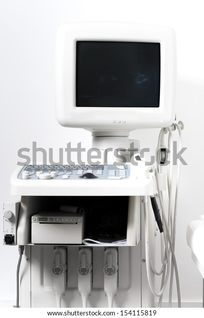 Computer x ray ultrasound detail of medical room