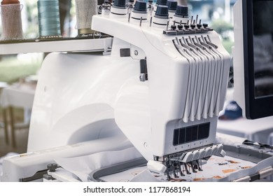 Computerized embroidery machines.