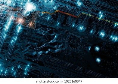 computers circuitboard, futuristic science and technology