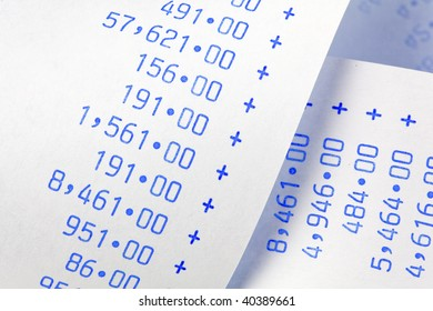 Computing stripes with numbers. Icon for costs, expenses, revenues and profits.