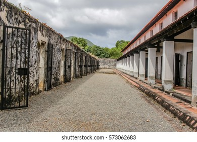Con Dao, Vietnam - December 30, 2016: Con Dao Prison on Con Son Island, Vietnam. The prison was built by French colonialists. The most infamous site is the 'tiger cages'. The prison is now a museum.