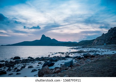 Con Dao,  VIETNAM - FEB 22, 2019: Dawn on Con Dao beach at Con Dao Island, Viet Nam