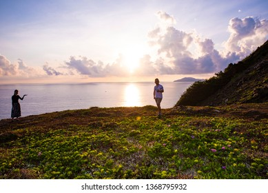 Con Dao,  VIETNAM - FEB 22, 2019: Dawn on Con Dao beach at Con Dao Island, Viet Nam