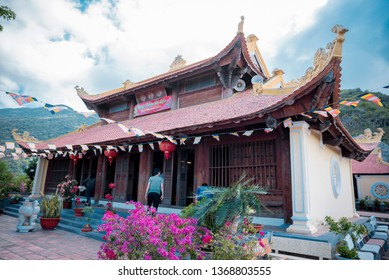 Con Dao,  VIETNAM - FEB 22, 2019: big pagoda  at Con Dao Island, Viet Nam