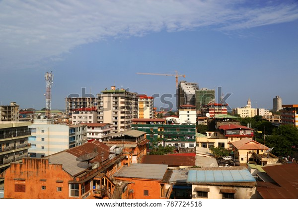 conakry, Guinea - may 08, 2015: Downtown Cityscape konakry, guinea,