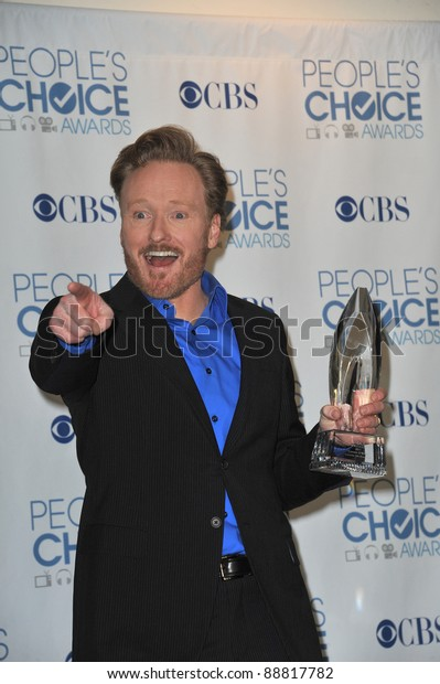 Conan O'Brien at the 2011 Peoples' Choice Awards at the Nokia Theatre L.A. Live in downtown Los Angeles. January 5, 2011  Los Angeles, CA Picture: Paul Smith / Featureflash