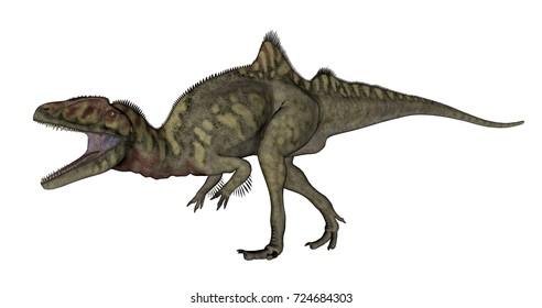 Concavenator dinosaur roaring - 3D render