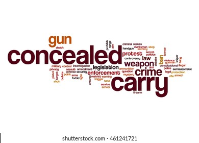 Concealed carry word cloud