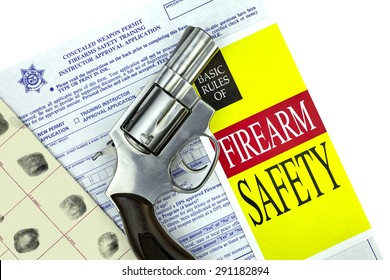 Concealed Weapon Permit Application with Gun