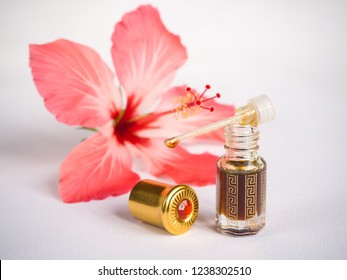 Concentrated floral perfume, Arabian attar in a mini bottle.