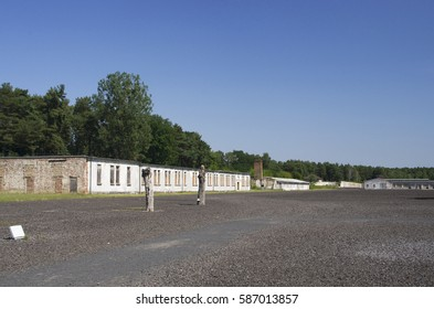 concentration camp of the nazis in ravensbrueck, germany