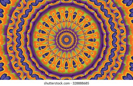 Concentric colorful kaleidoscopic background