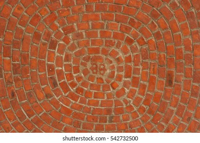Concentric masonry - red brick ceiling