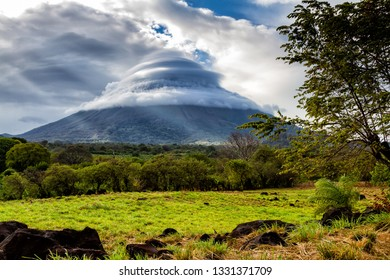 Concepcion volcano on Ometepe Island in Nicaragua, Cocibolca Lake, Central America