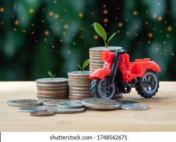 concept about saving money in order to buy products in the future. It is the life styl of teenagers. - Shutterstock ID 1748562671