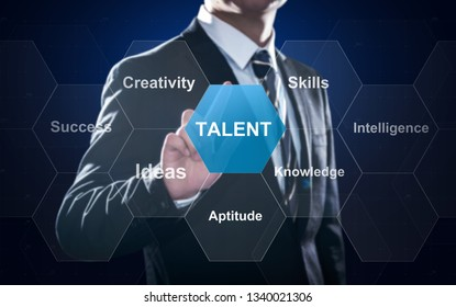 Concept about talent, performance based on outstanding intellige