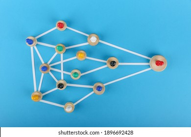concept of abstract community with leader. concept of the business structure. abstract model of the organization.