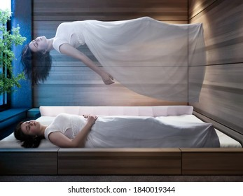 The concept of the astral plane, out-of-body experience, and the afterlife