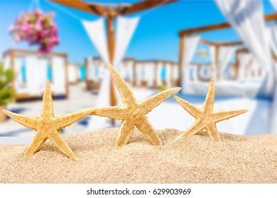 Concept of beach.