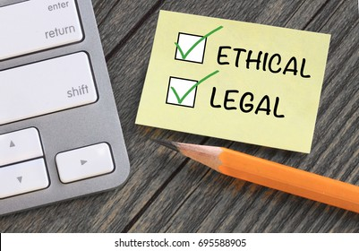 concept of being ethical and legal