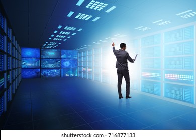 Concept of big data management with businessman - Shutterstock ID 716877133