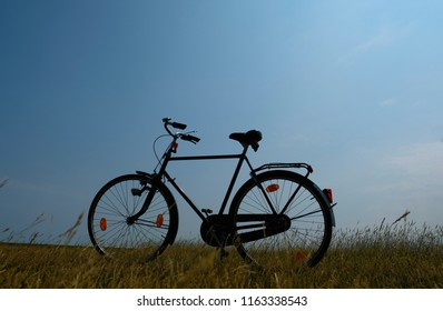 Concept of a bike tour in the nature
