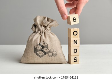 Concept of bonds and a bag of money