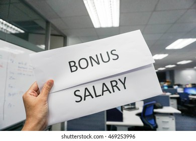 concept of bonus and salary payroll