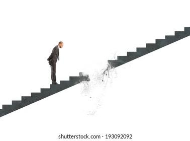 Concept of break career of a businessman