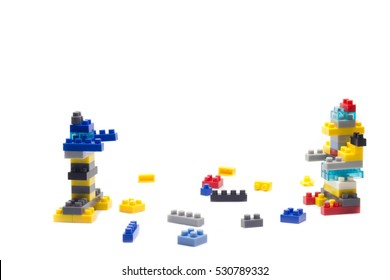 concept building block on white background Isolated