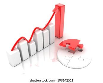 concept  Business graph