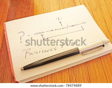 Concept Business Plan Flow Chart Stock Photo Edit Now 78474889