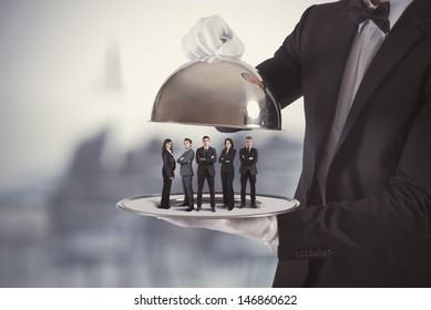 Concept of business service and First Class team