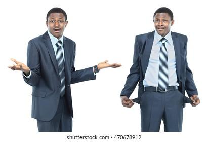 the concept of a businessman has no money